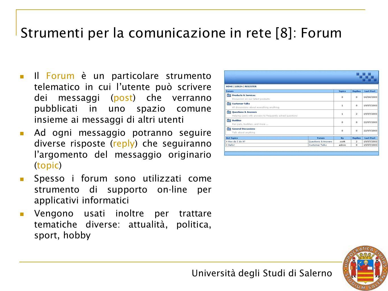 Strumenti per la comunicazione in rete [8]: Forum